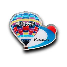 オリジナルピンバッジ製作実例|宮崎大学気球部 様