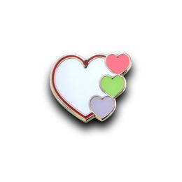 オリジナルピンバッジ製作実例|heart heart heart 様