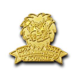 オリジナルピンバッジ製作実例|名城大学アメリカンフットボール部 ゴールデンライオンズ 様