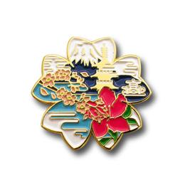 オリジナルピンバッジ製作実例|兵庫県立加古川東高等学校 様