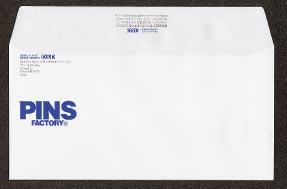 名刺・封筒等に印刷されたロゴをトレースしPINSを作る