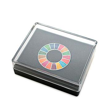 SDGsピンズ(バッジ、ピンバッジ)のパッケージ参考例の画像