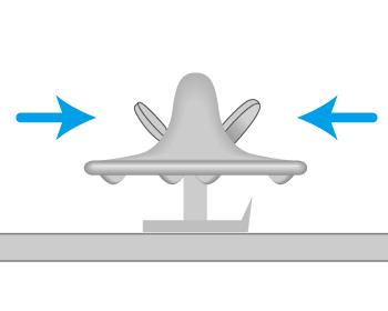 バタフライクラッチのアタッチメントの留め方の画像2
