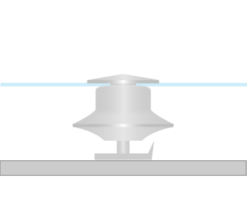 海外製薄型タイタックのアタッチメントの留め方の画像2