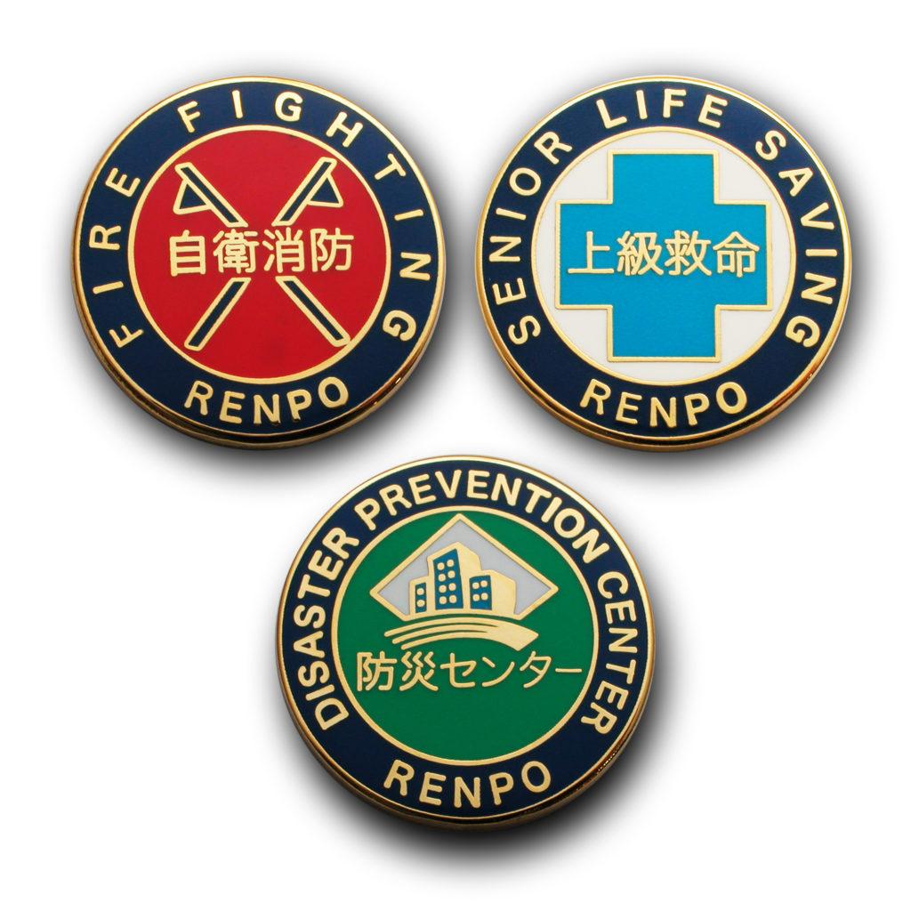 ピンズ製作実例 株式会社連邦警備の画像