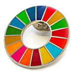 SDGsカラ―ホイールのピンバッジ