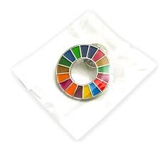 SDGsバッジ(ピンズ、ピンバッジ)のパッケージ参考例【OPP袋】の画像