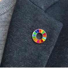 SDGsバッジ(ピンズ、ピンバッジ)「サイズ / 18mm」の画像